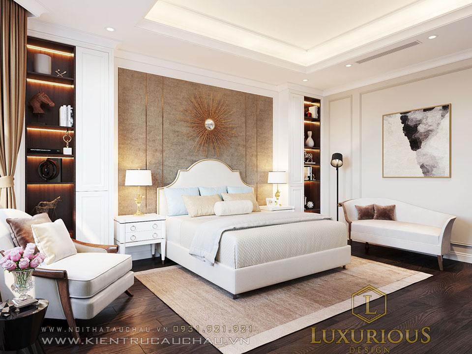 Phòng ngủ biệt thự tân cổ điển đẹp