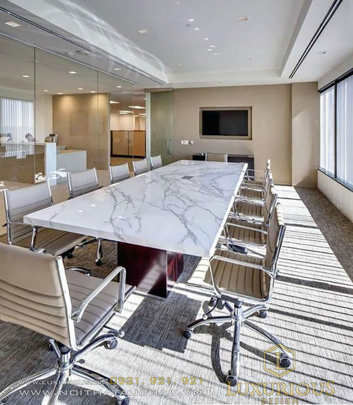 Mẫu thiết kế phòng họp đơn giản