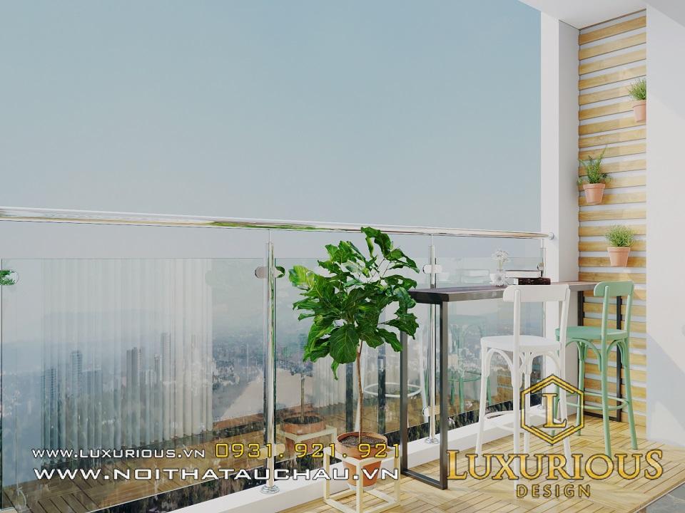 Thiết kế thi công nội thất ban công chung cư Rivera park