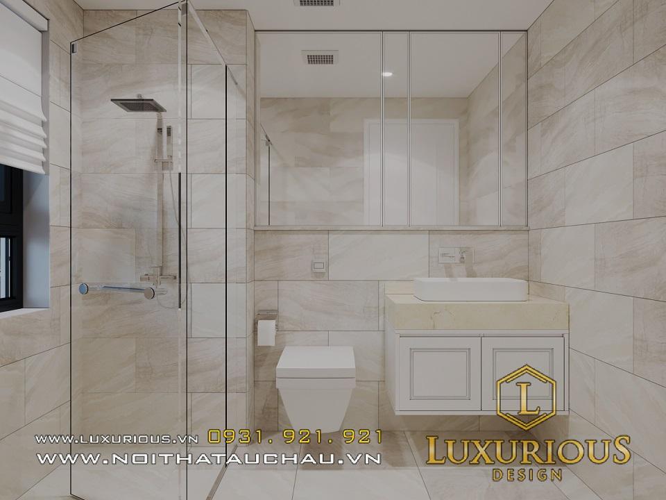 Thiết kế thi công nội thất phòng tắm căn hộ chung cư Rivera park