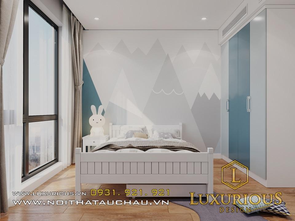 Thiết kế nội thất phòng ngủ cho bé trai