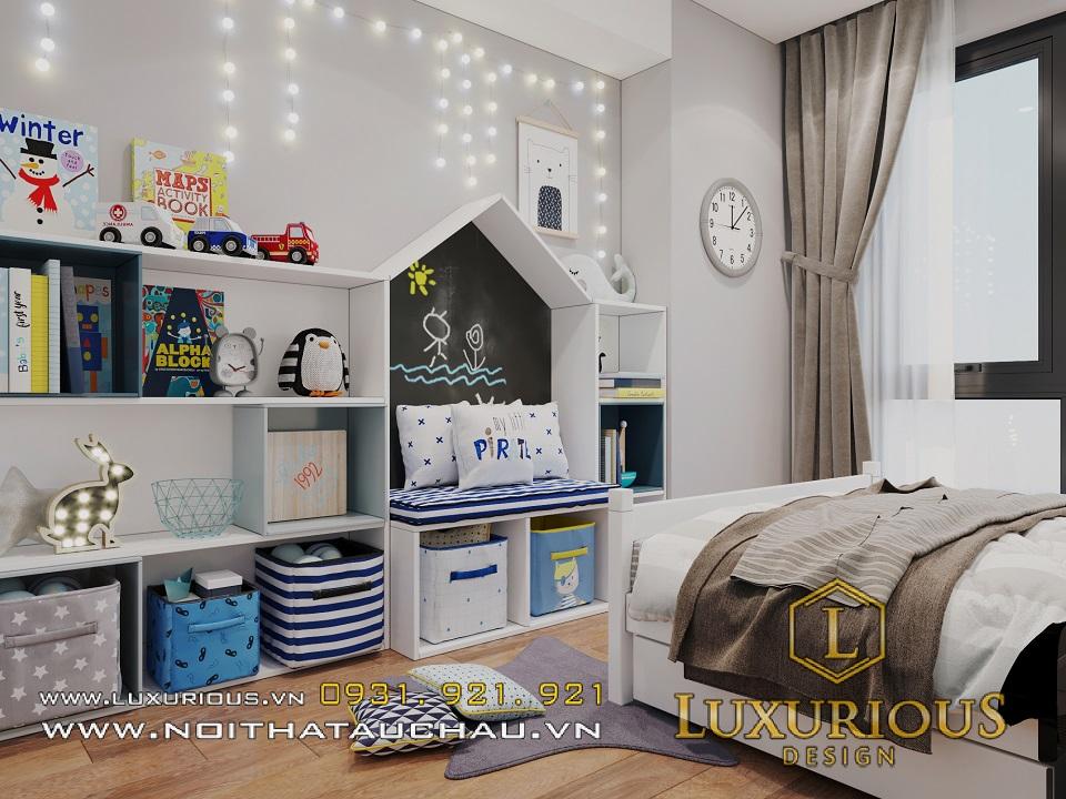 Thiết kế thi công nội thất phòng ngủ chung cư Rivera park
