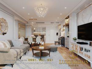 Mẫu thiết kế nội thất chung cư Rivera park phong cách tân cổ điển