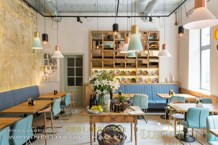 Mẫu thiết kế quán Cafe phong cách Rustic
