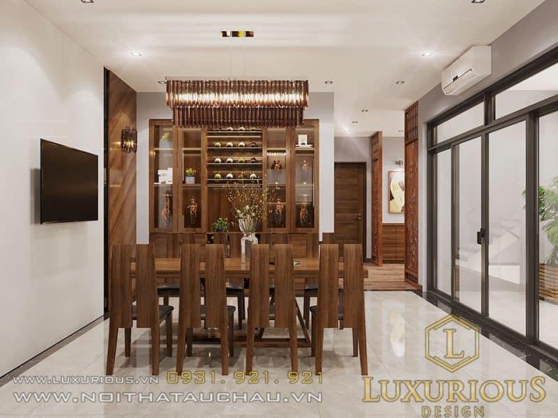 Thiết kế nội thất phòng bếp đẹp nhà phố