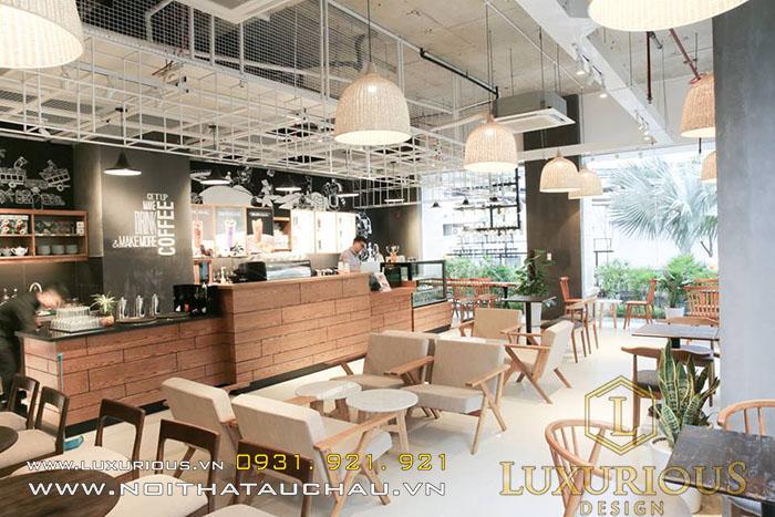 Mẫu Quán Cafe phong cách Mid-Century