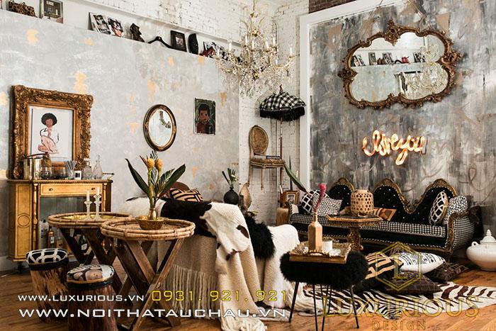 Thiết kế quán cafe phong cách Bohemian