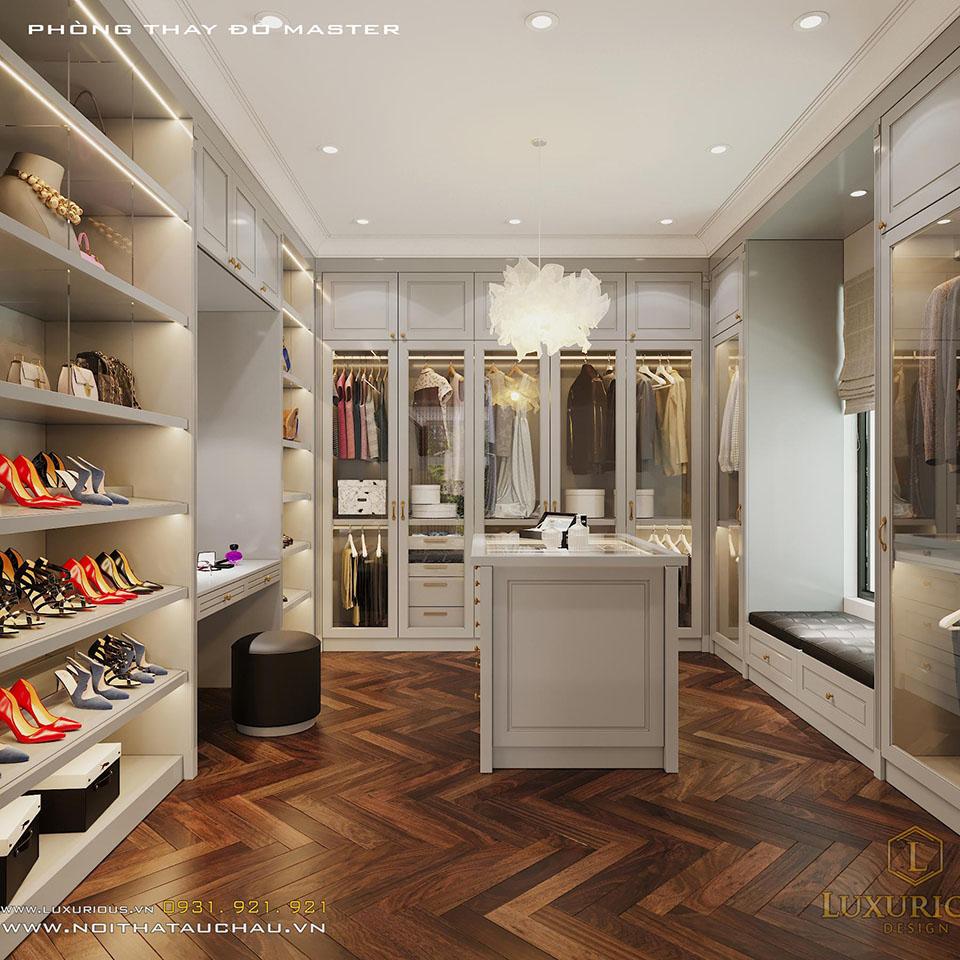 Phòng trưng bày quần áo giày dép biệt thự