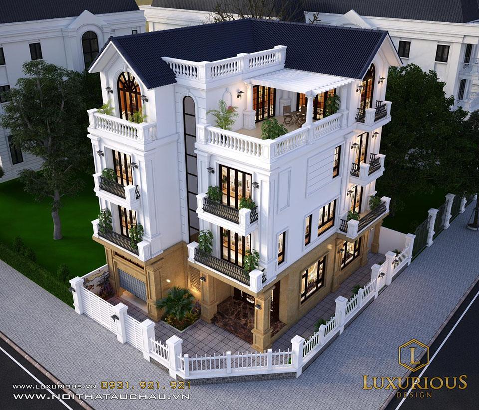 Kiến trúc biệt thự 4 tầng đẹp