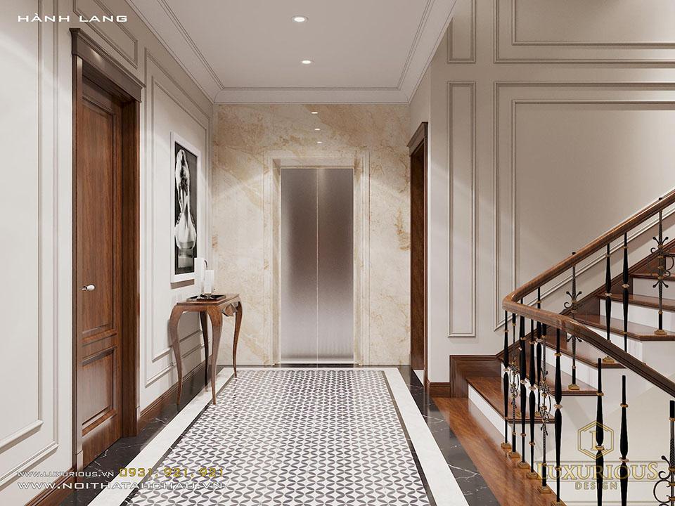 Lối lên cầu thang tân cổ điển