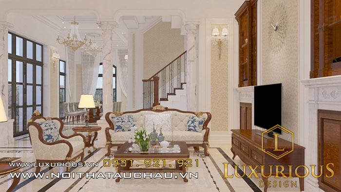 Mẫu nội thất phòng khách biệt thự
