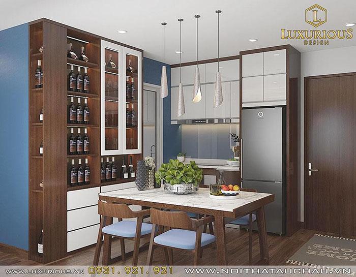 Mẫu phòng bếp chung cư hiện đại