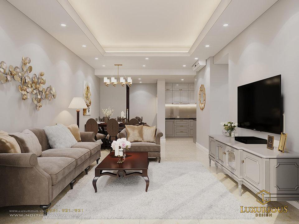 Mẫu phòng khách chung cư D Capitale