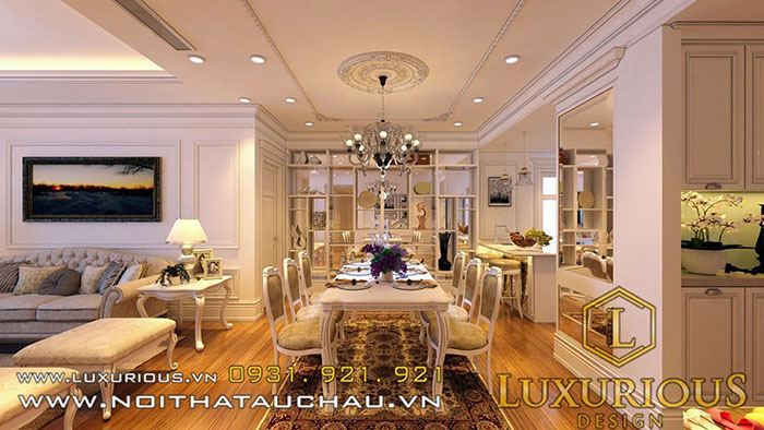 Phòng ăn chung cư Golden Palace