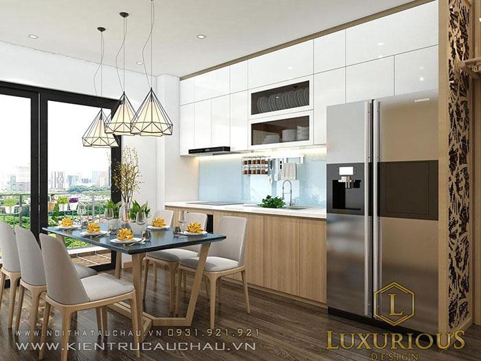 Thiết kế nội thất phòng ăn chung cư Centrepoint
