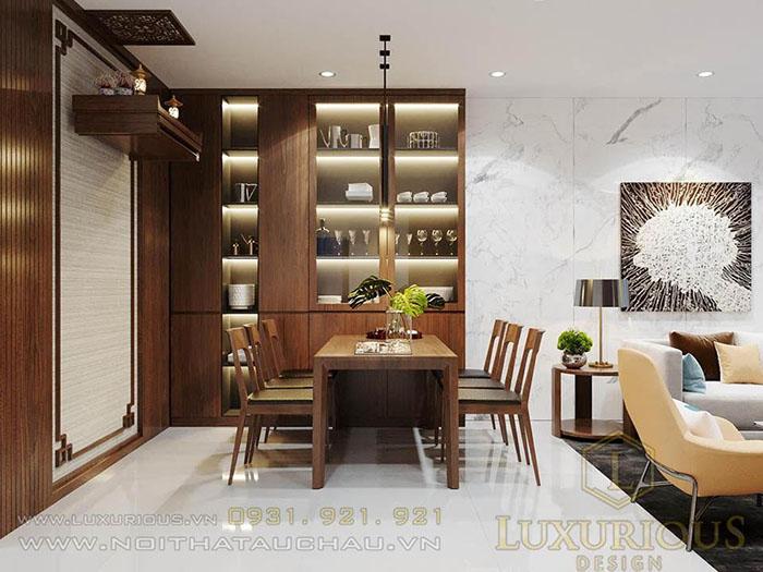 Thiết kế nội thất phòng bếp chung cư ciputra