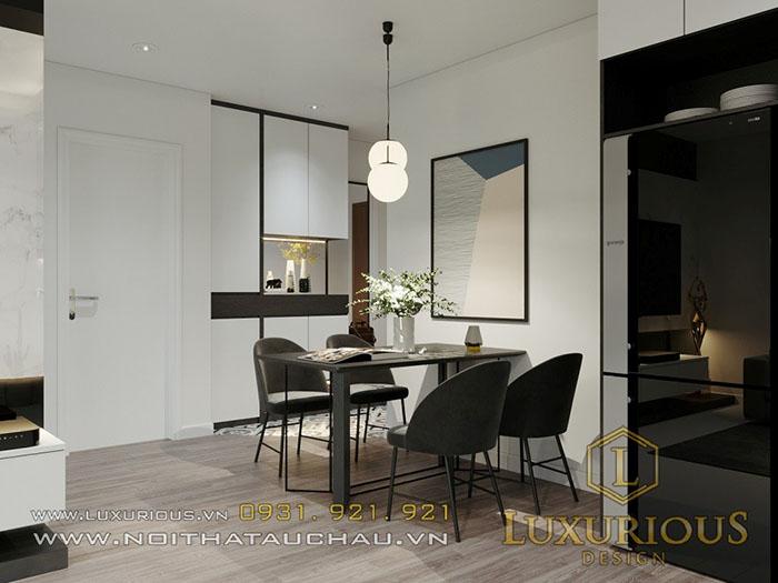 Thiết kế phòng ăn chung cư Samsora Premier