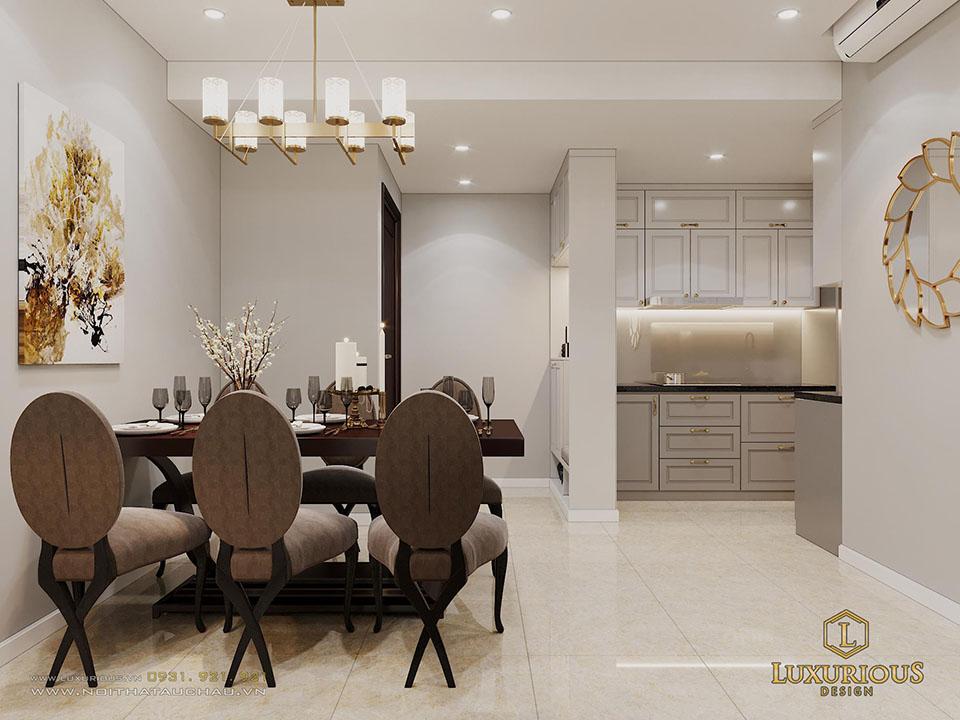 Thiết kế phòng ăn chung cư d capitale
