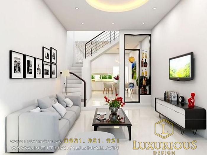 Thiết kế phòng khách theo cấu trúc