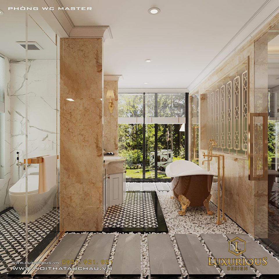 Thiết kế phòng vệ sinh biệt thự