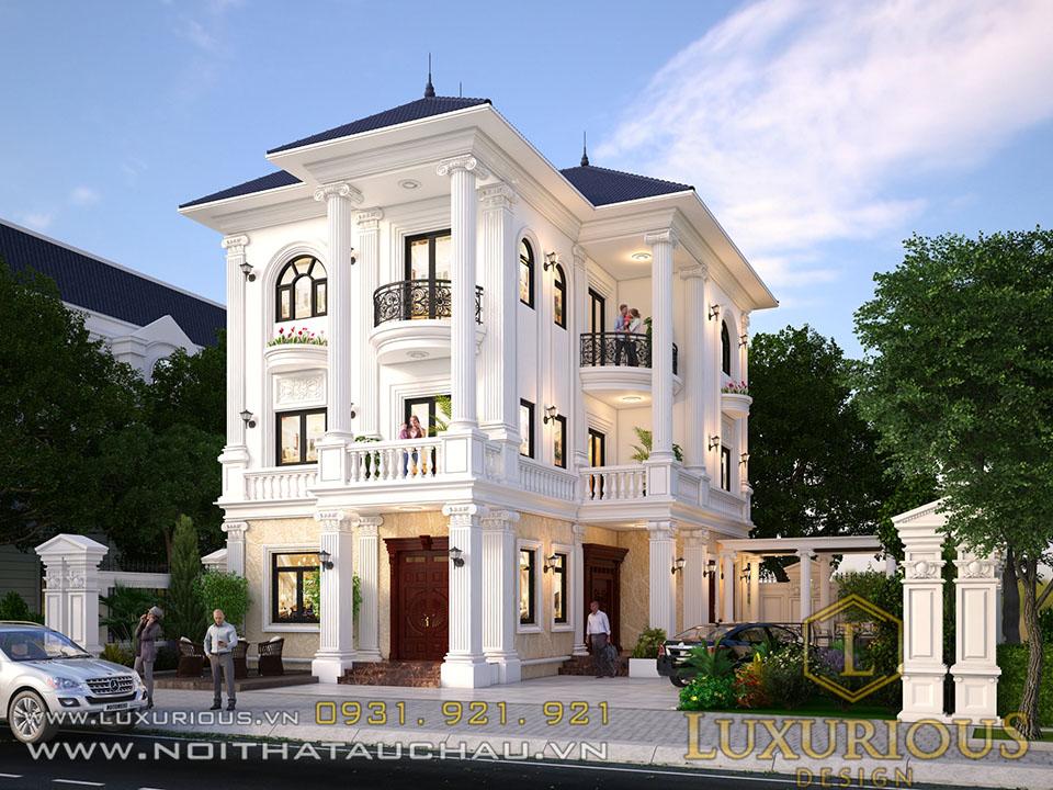 Mẫu thiết kế biệt thự phong cách tân cổ điển 3 tầng