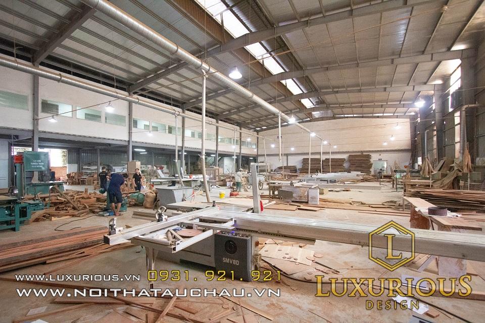 Nhà máy sản xuất nội thất gỗ thương hiệu Luxurious Design