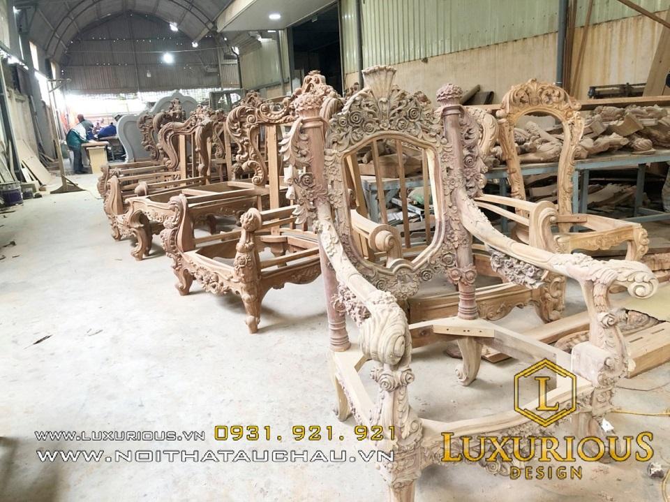 Nhà máy sản xuất bàn ghế tân cổ điển theo yêu cầu