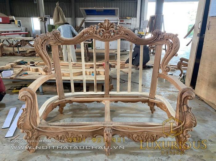 Khung ghế sofa tân cổ điển đẹp sang trọng