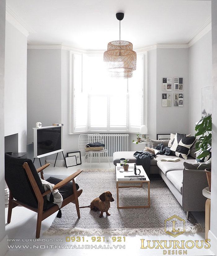 Phòng khách căn hộ Scandinavia