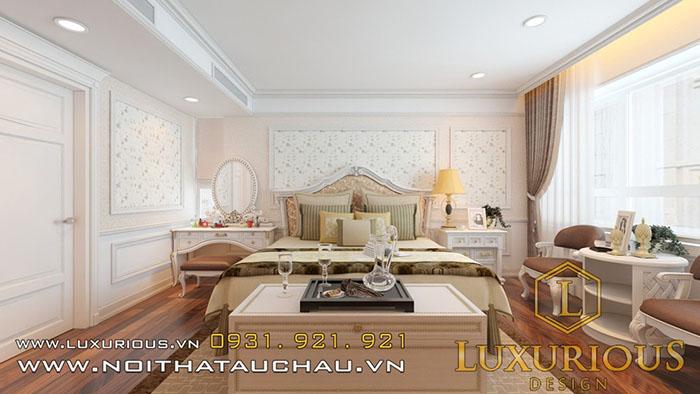 Thiết kế phòng ngủ tân cổ điển thư giãn và thoải mái