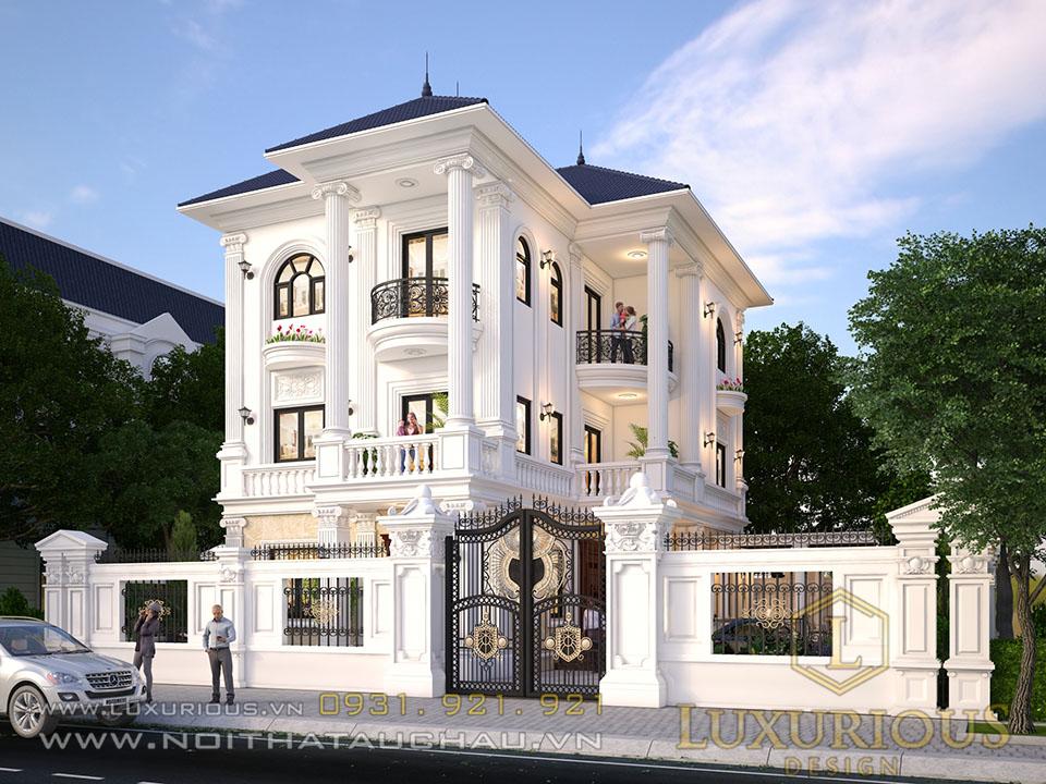 Thiết kế biệt thự phong cách tân cổ điển 3 tầng đẹp