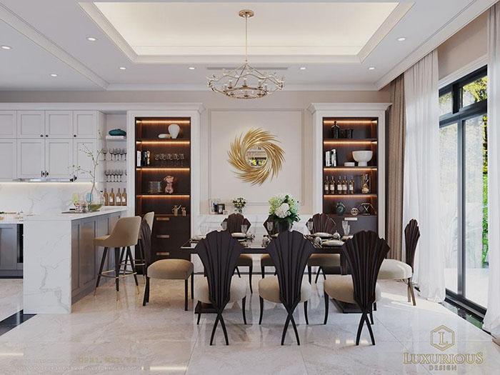 Thiết kế phòng bếp biệt thự Vinhomes Imperia