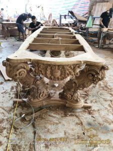 bàn ghế sofa gỗ tự nhiên