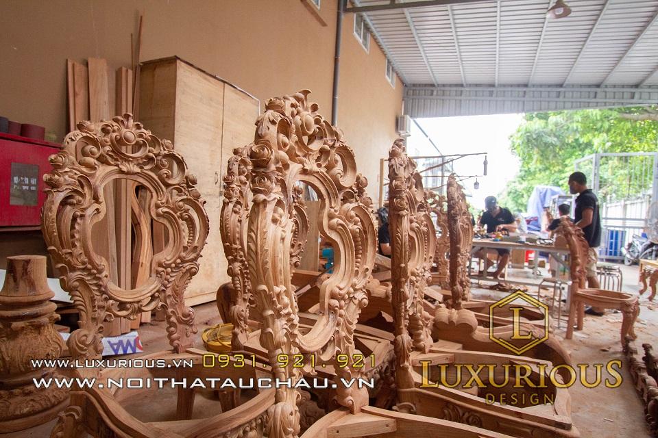 Xưởng sản xuất bàn ghế nội thất tân cổ điển tại Hà Nội