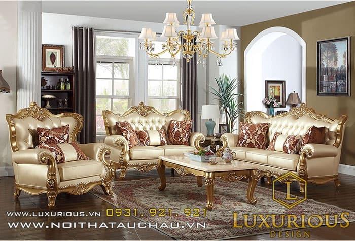 Bộ Sofa da mang phong cách Âu Châu