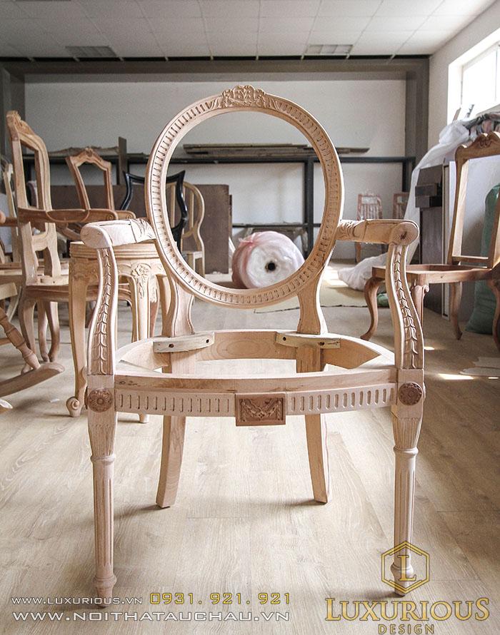 Mẫu ghế tân cổ điển khung