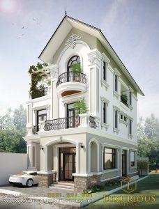 Mẫu thiết kế biệt thự 3 tầng mái thái