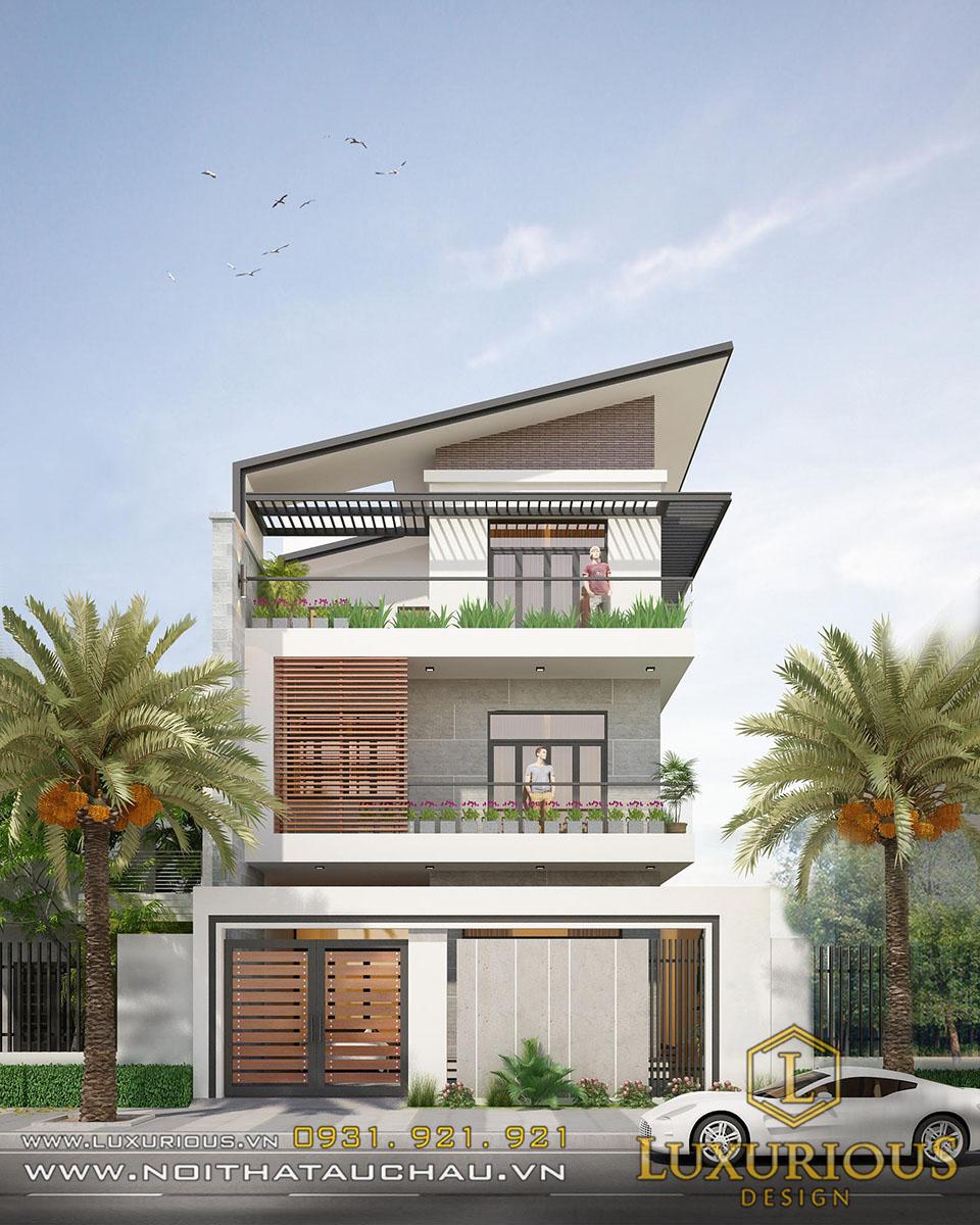 Nhà hiện đại 3 tầng mái thái