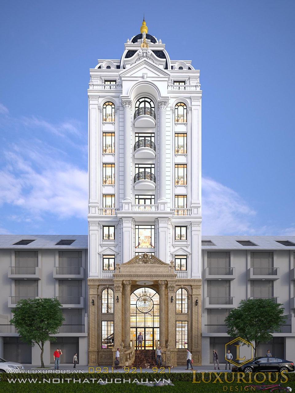 Thiết kế khách sạn 9 tầng