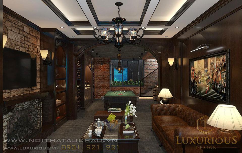 Thiết kế nội thất biệt thự có tầng hầm đẹp