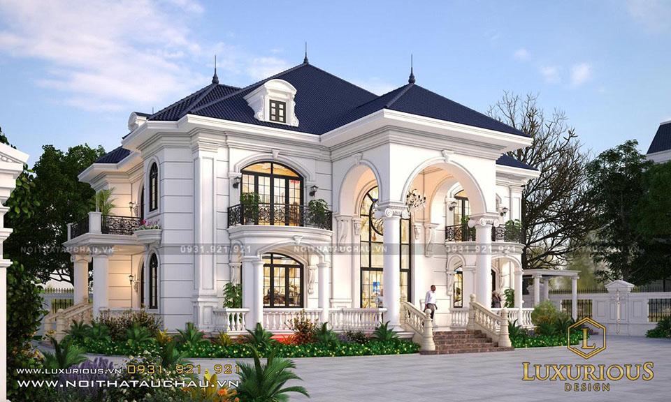 Hình ảnh biệt thự tân cổ điển 2 tầng đẹp