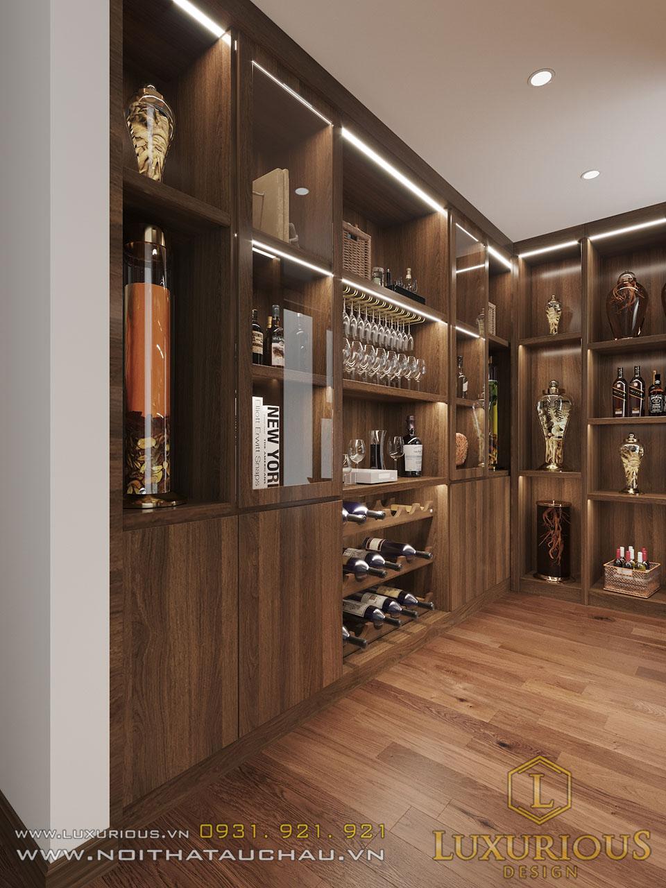Kho tủ rượu âm tường tầng 4