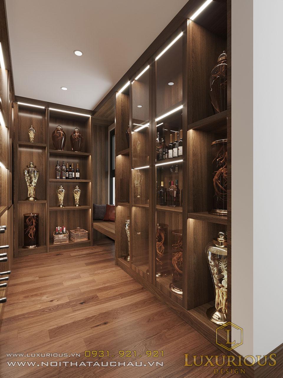 Tủ rượu âm tường tầng 4