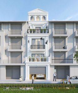 Mẫu kiến trúc nhà phố 5 tầng