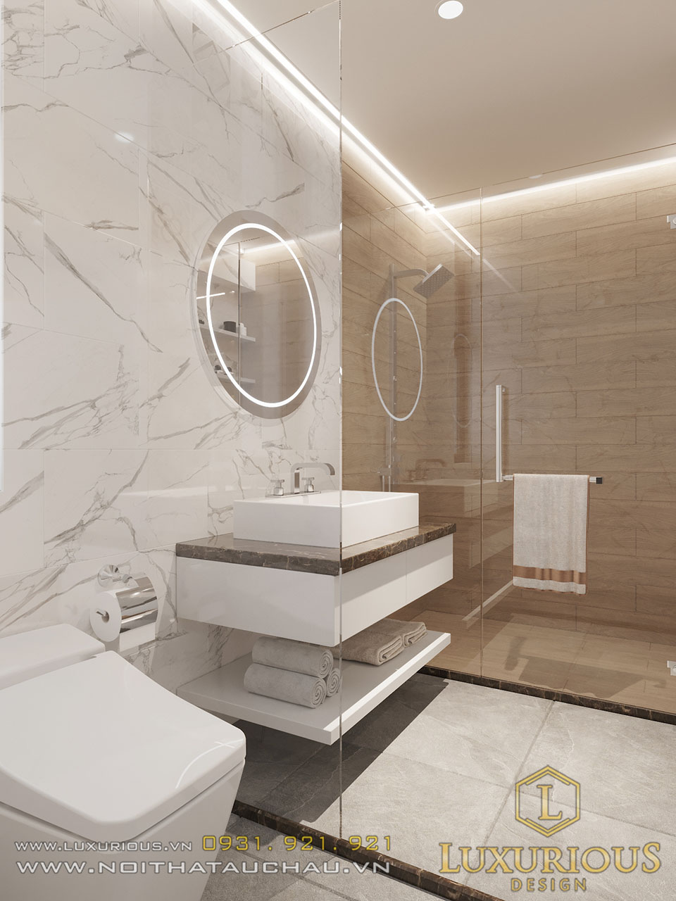 Mẫu nhà vệ sinh vách kính