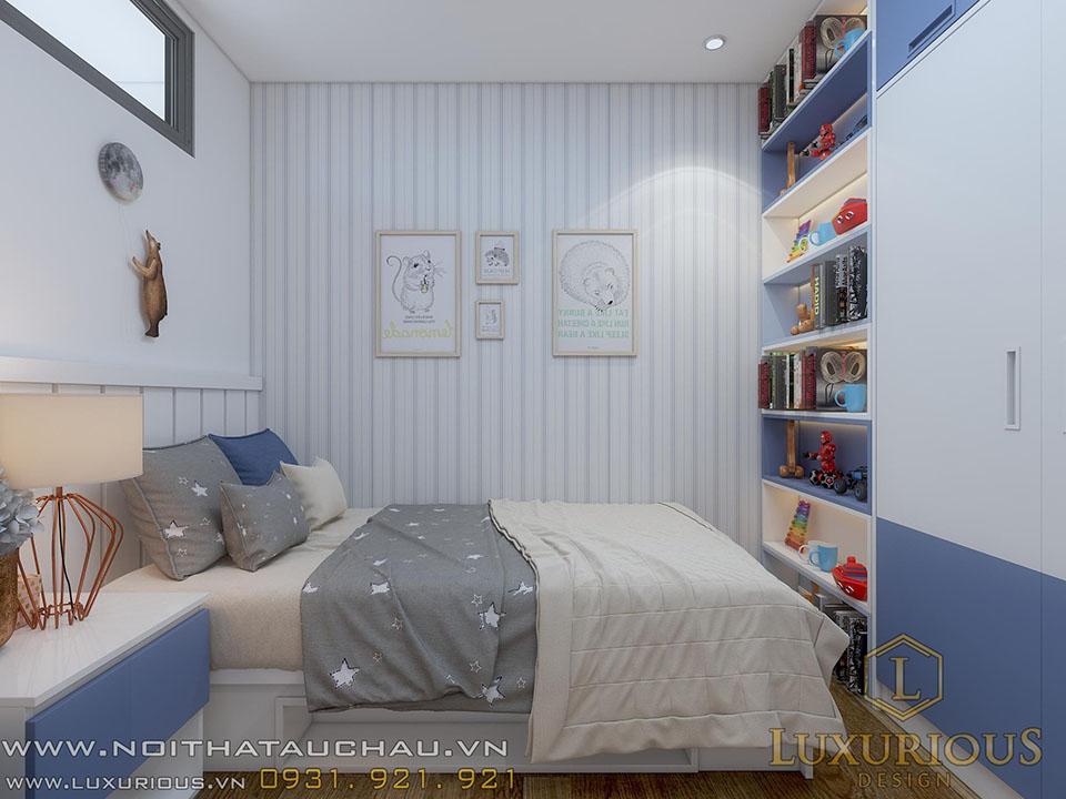 Mẫu phòng ngủ con trai nhà chung cư