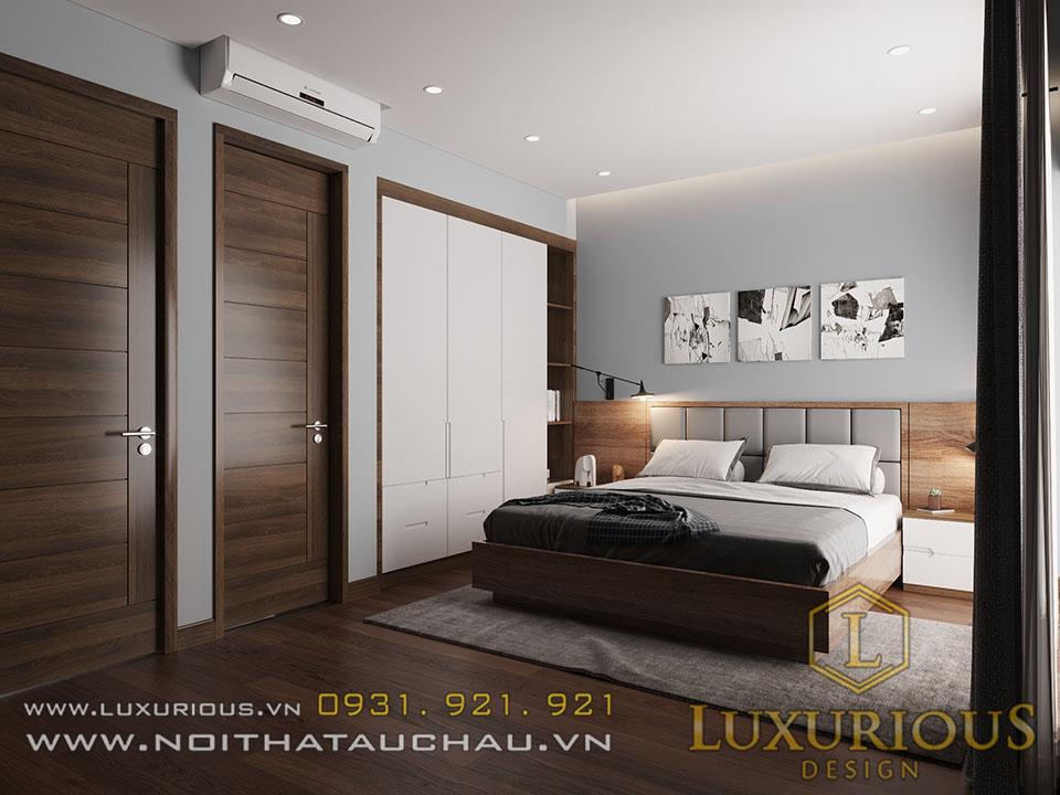 Mẫu phòng ngủ hiện đại tầng 2