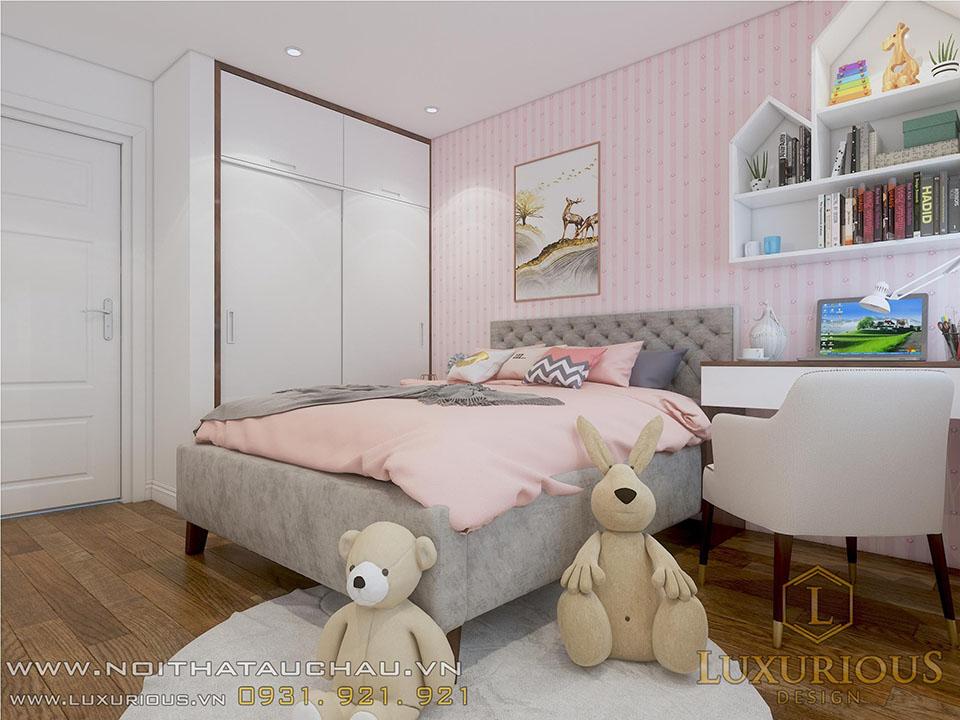 Mẫu thiết kế phong chung cư con gái
