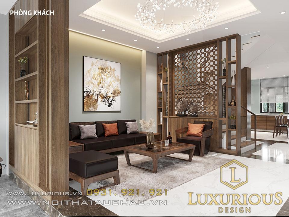 Mẫu thiết kế phòng khách tầng 1