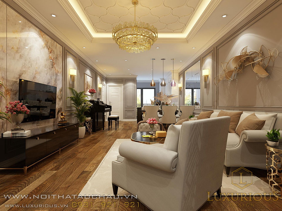 Nội thất phòng khách chung cư chung cư Diamond Tower